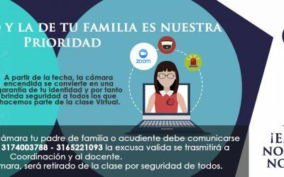 Medidas de Seguridad para las clases Virtuales